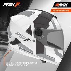 Casco Integral Moto Hawk Rs1 F Sophie Blanco Gris Yuhmak en internet