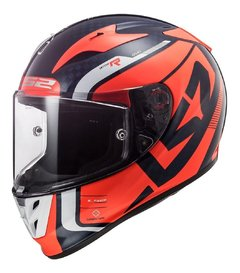 Casco Moto Integral Ls2 323 Arrow C Sting Blue Orange Yuhmak