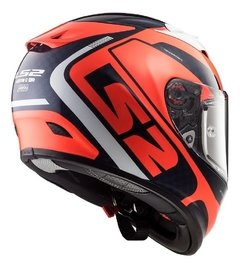 Casco Moto Integral Ls2 323 Arrow C Sting Blue Orange Yuhmak - comprar online