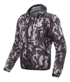 Campera Impermeable Camuflada Nine To One Mist Yuhmak