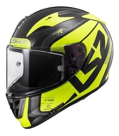 Casco Moto Integral Ls2 323 Arrow C Sting Amarillo Yuhmak