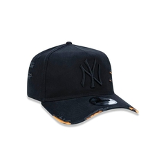 Boné New Era 9FORTY A-Frame Destroyed MLB New York Yankees - Preto na internet