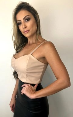 Cropped Courino NUDE ESCURO