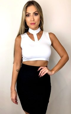 Top Chocker Regata Branco - comprar online