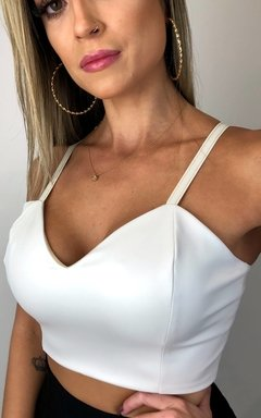 Cropped Courino Branco - comprar online