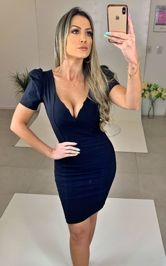 Vestido Bufante Preto - Chris Evert
