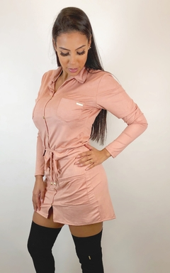 Vestido Camisa Suede Rose - Chris Evert