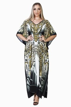 Kaftan longo Animal Print