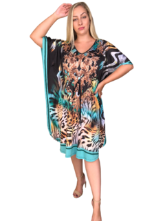 Kaftan curto Animal Print