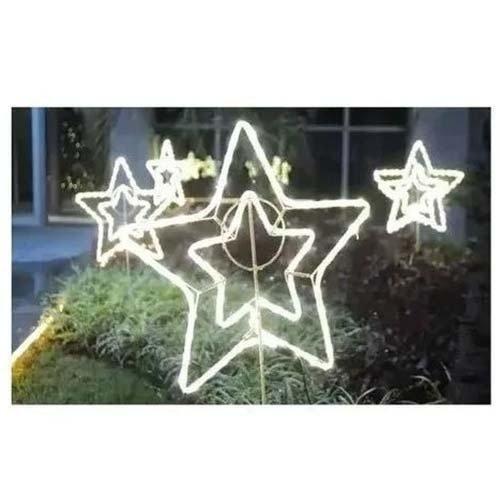 Estrela Led Pequena 21cm 220v Dec Natalina Branco Quente 3500k
