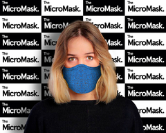 MICRO MASK URBAN AZUL MELANGE - OFERTA !!!! - The Micro Mask