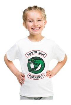 Camiseta Riverdale Infantil Serpentes Do Sul Série Nova Log