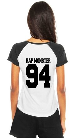 Camiseta Bts Rap Monster 94 Kpop Feminina Raglan Army Bias