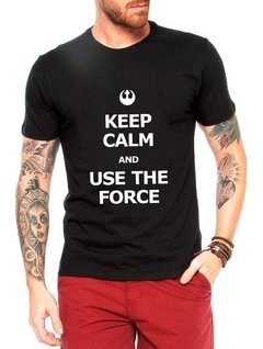 Camisa Use The Force Masculina Camiseta Blusa Star Wars