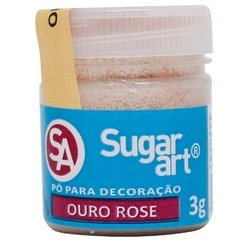 PO DECORACAO SUGAR ART OURO ROSE 3G  (SUGAR ART - 5315)