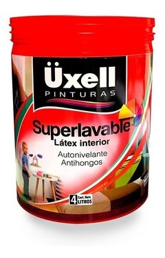 Látex Interior Super Lavable Mate Uxell Blanco X 10 Lts
