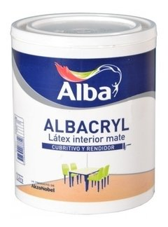 Albacryl Pintura Latex Interior Blanco Mate X 1 Lts