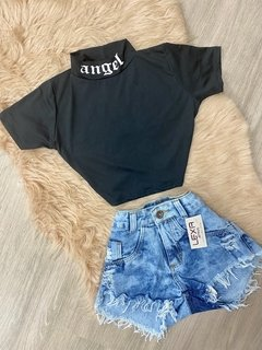 Cropped Angel Preto
