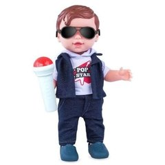 Boneco Pop Star Menino Babys Collection 31,5 Cm - 140353