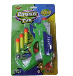Pistola Cross Fire 2 Furos c/ 3 Dardos - 140687