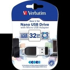 Pendrive Verbatim Nano C/micro Usb Adapter  32gb   (5066)