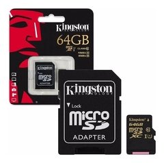 Tarjeta Kingston Micro SD 64gb 90mb/s-45mb/s U1 clase 10 (5845)