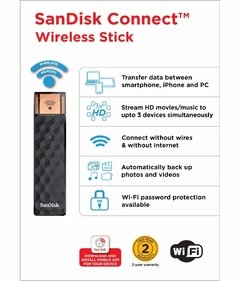 Pendrive SanDisk Connect Wireless Stick 32gb (7231) en internet