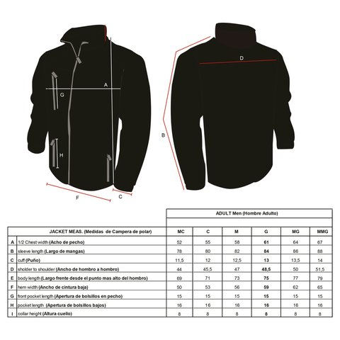 Campera Jacket Full Zipper Cardon