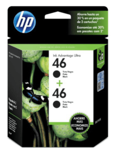 CARTUCHO HP 46 NEGRO DUAL PACK en internet