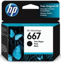 CARTUCHO HP 667 NEGRO ORIGINAL