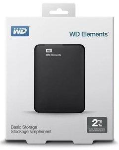 DISCO DURO PORTABLE USB WESTERN DIGITAL 2TB  NEGRO