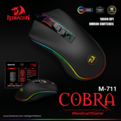 Mouse Gamer Redragon M711 Cobra Chroma 10000 Dpi Rgb