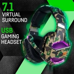 Auriculares Headset Gamer Noga Warfare 7.1 Pc Ps4 Led Full
