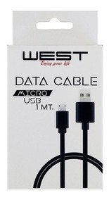 CABLE MICRO USB 1MT.  WEST