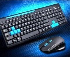 Teclado + Mouse Gamer Inalambrico Hk 3800 Pc Ps4 - comprar online