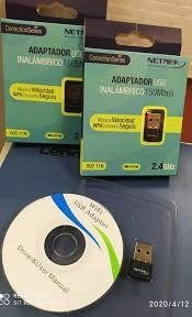 PLACA DE RED / ADAPTADOR WIFI EXTERNA USB NETMAK NM-CS150 150 MBPS 2.4 GHZ - comprar online