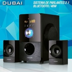 Parlantes Pc 2.1 Usb Sd Bluetooth Control Noga Net Dubai en internet