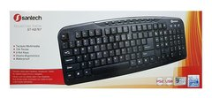 Teclado Santech Kb767 Multimedia Usb Pc 104 Teclas C/Ñ/