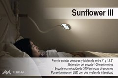 Soporte Flexible Para Celular Y Tablet Con Luz Sunflower 3