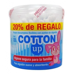 HISOPOS COTTON UP X 120 U - 20% DE REGALO