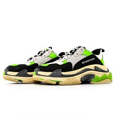 "Balenciaga Triple S ""White / Black / Neon - Empório Outlet"