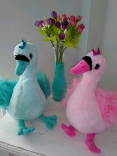 Cisnes color con brillo