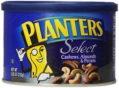 Planters select cashews almonds & pecans 234grs
