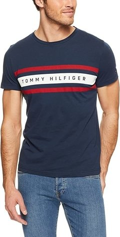 Tommy Hilfiger Remera manga larga de hombre Logo Band Graphic