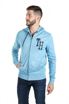 Tommy Hilfiger Campera con capucha de hombre Hilfiger Hooded Zip Through