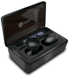 Onebox, Auriculares Bluetooth Earbuds TWS T8, Negro