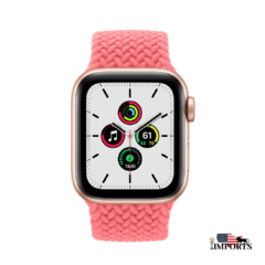 Apple Watch Series SE - Caixa Dourada - Braided Solo Loop