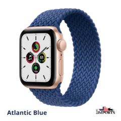 Apple Watch Series SE - Caixa Dourada - Braided Solo Loop - loja online