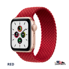 Imagem do Apple Watch Series SE - Caixa Dourada - Braided Solo Loop