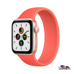 Apple Watch Series SE - Caixa Dourada - Solo Loop
